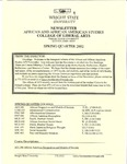 African and African American Studies Newsletter, Spring Quarter 2002