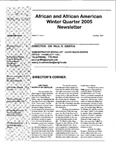 African and African American Studies Newsletter, Winter Quarter 2004