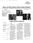 African and African American Studies Newsletter, Spring Quarter 2008