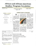African and African American Studies Newsletter, Spring Quarter 2009 by African and African American Studies