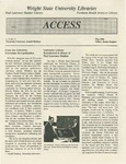 Wright State University Libraries Access Newsletter  Volume 1, Number 1, May 1992