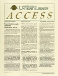 Wright State University Libraries Access Newsletter  Volume 2, Number 1, Fall 1992