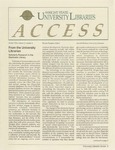 Wright State University Libraries Access Newsletter  Volume 2, Number 2, Winter 1993