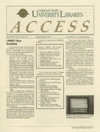 Wright State University Libraries Access Newsletter  Volume 1, Number 3, Spring 1993