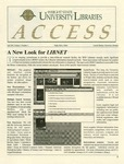 Wright State University Libraries Access Newsletter  Volume 4, Number 1, Fall 1994