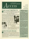 Wright State University Libraries Access Newsletter Fall 1995