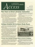 Wright State University Libraries Access Newsletter April 1998