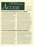 Wright State University Libraries Access Newsletter December 1998