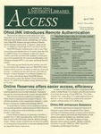 Wright State University Libraries Access Newsletter April 1999
