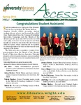Wright State University Libraries Access Newsletter Spring 2014 by Wright State University Libraries