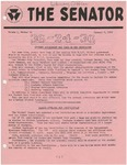 Wright State University Alternative Newspaper: The Senator, Volume 1, Number 12, January 9, 1969 by Wright State University Student Body