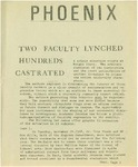 Wright State University Alternative Newspaper: Phoenix, December 2, 1968 by Wright State University Student Body