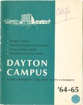 1964-1965 University Course Catalog: The Dayton Campus of Miami University and the Ohio State University