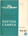 1964-1965 University Course Catalog: The Dayton Campus of Miami University and the Ohio State University
