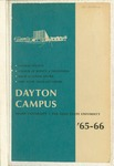 1965-1966 University Course Catalog: The Dayton Campus of Miami University and the Ohio State University