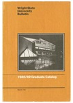 1980-1982 Wright State University Graduate Course Catalog by Wright State University