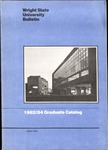 1982-1984 Wright State University Graduate Course Catalog by Wright State University