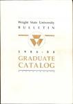 1986-1988 Wright State University Graduate Course Catalog
