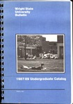 1987-1989 Wright State University Undergraduate Course Catalog by Wright State University