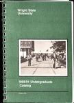 1989-1991 Wright State University Undergraduate Course Catalog