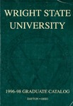 1996-1998 Wright State University Graduate Course Catalog by Wright State University