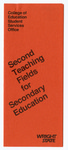 Second Teaching Fields for Secondary Education