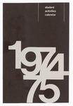 Student Activities Calendar 1974 / 75