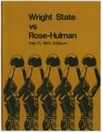 Wright State Vs Rose-Hulman Basketball Program 1973 by Wright State University Athletics