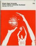 Wright State Vs Indiana University Southeast Basketball Program 1976 by Wright State University Athletics