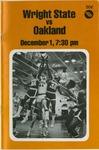 Wright State Vs Oakland Basketball Program 1979