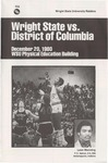 Wright State University Vs The University of the District of Columbia Basketball Program 1980