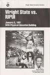 Wright State University Vs IUPUI Basketball Program 1981