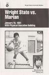 Wright State University Vs Marian University Basketball Program 1981