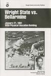 Wright State University Vs Bellarmine University Basketball Program 1981