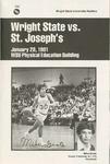 Wright State University Vs St. Joseph's University Basketball Program 1981 by Wright State University