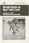 Wright State University Vs New York Tech Basketball Program 1981