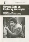 Wright State University Vs Kentucky Wesleyan Basketball Program 1981 by Wright State University