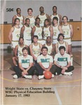 Wright State University Vs Cheyney State Basketball Program 1983