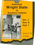 Wright State University Vs Southern Indiana University Basketball Program 1985 by Wright State University