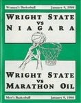 Wright State University Vs  Niagara University Women's Basketball Program 1987