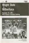 Wright State University vs. Wilberforce Basketball Program 1981