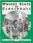 Wright State University vs University of Cincinnati Women's Basketball Program 1987