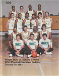 Wright State University Vs Indiana Central University Basketball Program 1983