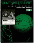 Wright State University vs. University of Detroit Mercy Basketball Program 1995-1996 by Wright State University Athletics