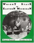 Wright State University vs Eastern Michigan Women's Basketball Program 1987