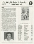 Wright State University Softball Media Guide 1990
