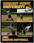 Wright State University softball Media Guide 2001 by Wright State University Athletics