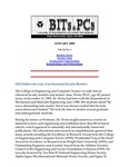 Wright State University College of Engineering and Computer Science Bits and PCs newsletter, Volume 16, Number 1, January 2000
