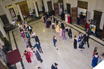 Attendees dancing at the Pride and Prejudice Regency Ball by Wright State University