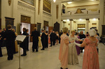 Attendees dancing at the Pride and Prejudice Regency Ball.